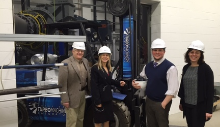 NASA Deputy Administrator Dava Newman Visits ND Turbo Lab