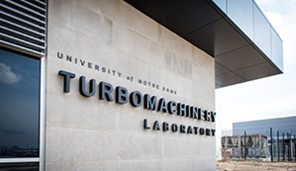 Notre Dame holds ribbon cutting for new Turbomachinery Laboratory
